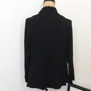 Laura Ashley Sweaters - Laura Ashley Black Cardigan w/Embroidered Collar